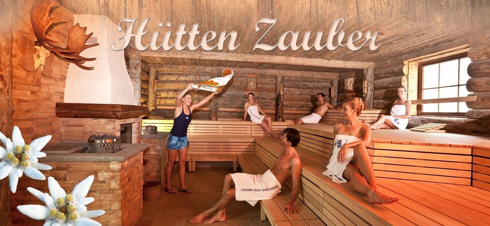 Erlebnis-Saunanacht Hüttenzauber (textilfrei) - Therme